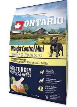 Ontario 2,25кг Mini Weight Control Turkey & Potatoes Сухой корм для собак малых пород Контроль веса с индейкой и картофелем