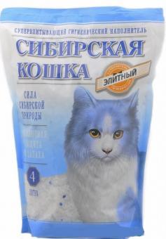 Сибирская кошка 16л/7,3 кг Элитный Силикагелевый наполнитель