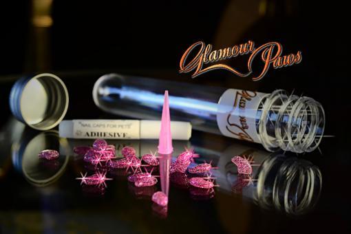 Glamour Paws Гламурные лапки для кошек розовые с блестками
