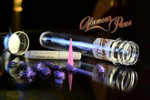 Glamour Paws Гламурные лапки для кошек фиолетовые с блестками