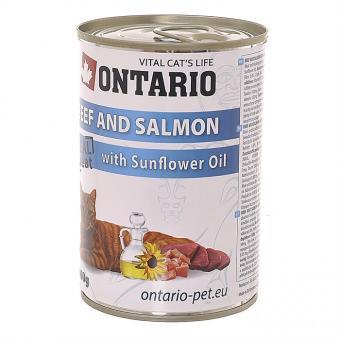 Ontario 0,4кг Консервы для кошек курица и кролик
