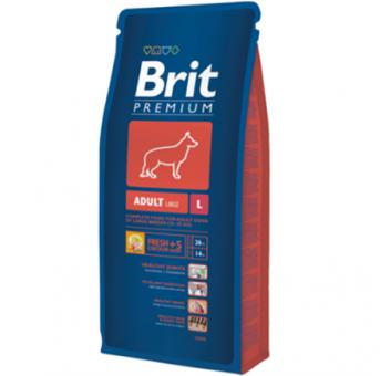 Brit 18кг Adult large breed Сухой корм для взрослых собак крупных пород курица