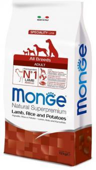 Monge Dog 2,5кг Speciality корм для собак всех пород ягненок с рисом и картофелем