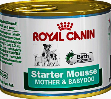 4шт Royal canin 195 г. Starter mousse Влажный корм для щенков всех размеров в период отъема до 2-месячного возраста
