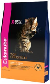 Eukanuba 10кг Adult Top Condition для взрослых кошек с курицей