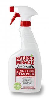 Nature's Miracle 946мл Универсальный уничтожитель пятен и запахов Лаванда для кошек, спрей, NM Cat Stain Odor Remover Spray Lav