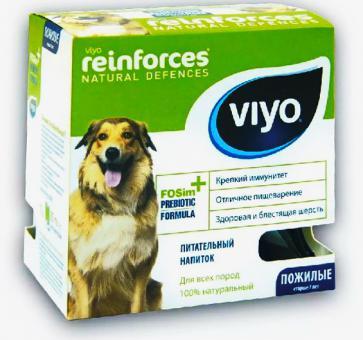 Viyo Senior Dog коробка 30 мл х 7шт пребиотический напиток для пожилых собак старше 7 лет