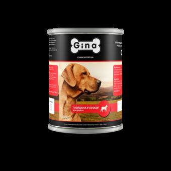 12шт.Gina 400 г Puppy beef and vegetables Консервы для щенков говядина и овощи