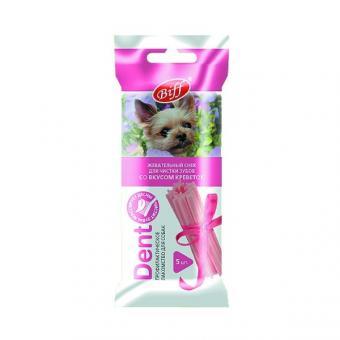 TiTBiT 35г Жевательный снек для собак DENT со вкусом креветок для мелких пород, 4 шт.(для мелких пород)