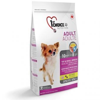 1st Choice 2,72кг  для взрослых собак миниатюрных и мелких пород с чувствительной кожей и шерстью  ягненок с рыбой и рисом