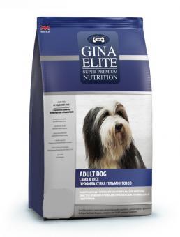 Gina 8 кг Elite Dog Lamb & Rice with VERM-X с ягненком и рисом для аллергичных собак