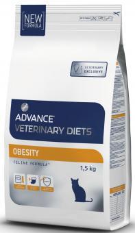 vet advance 1,5 кг. Корм Advance  для кошек при  при ожирении (Obesity Management) 597211