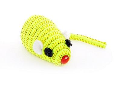 Papillon Игрушка для кошек Светоотражающая мышка с погремушкой, желтая, 5 см,