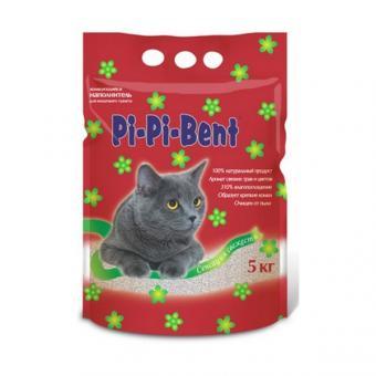 Pi-Pi Bent Fresh Sensation 5 кг (пакет) Сенсация свежести комкующийся наполнитель для кошачьего туалета (аромат свежих трав и цветов)