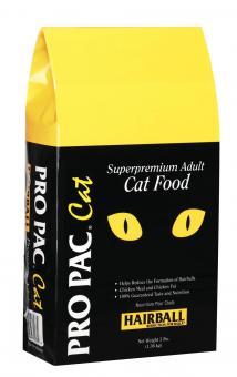Pro pac 3 кг. Cat adult hairball Сухой корм для взрослых кошек для выведения шерсти