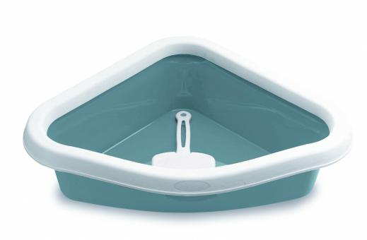 Stefanplast  40*56*14см Туалет угловой Sprint Corner, с рамкой и совочком, синий