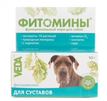 Фитомины 100 таб. для укрепления и восстановления суставов, для собак
