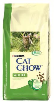 Purina Cat Chow 15кг для кошек кролик/печень