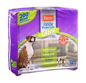 Hartz 54Х54см 14шт Training Pads Home Protection Ultra for dogs & puppies Пеленки впитывающие для собак и щенков