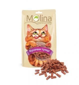 Molina 80гр. Лакомство для кошек Кусочки тунца