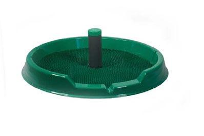 Туалет D=50 см со столбиком для собак мелких пород круг искусственная трава