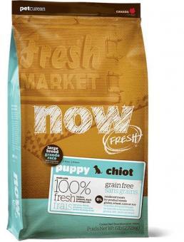Now Natural 11,35кг 29/16 puppy large breed recipe grain free Сухой корм беззерновой для щенков крупных пород с индейкой, уткой и овощами