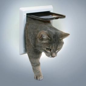 TRIXIE  Дверца для кошки h16,5х17,5-ширина см, белая