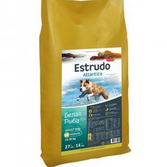 Porcelan Estrudo 13кг Atlantica для взрослых собак средних  пород ,белая рыба
