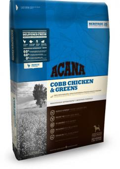 Acana 2кг Heritage Cobb Chicken&Greens сухой корм для собак всех пород и возрастов  цыпленок с зеленью