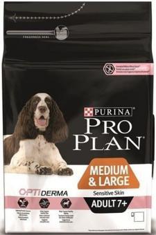 Pro Plan 14кг Senior Sensitive Skin Сухой корм для пожилых собак с чувствительным пищеварением лосось
