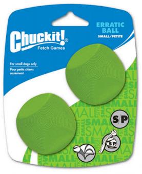"""Chuckit Erratic Ball 2-Pack Medium Игрушка д/собак - """"Геометрический"""" мяч, резина, средняя, 2 шт"""