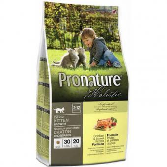 Pronature Holistic 5,44кг Cухой корм для котят, курица со сладким картофелем