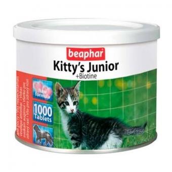 Beaphar Kitty's Junior Витамины для котят (сердечки), 1000 таб.