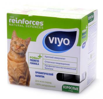Viyo коробка 30 мл х 7 шт Adult Cat Пребиотический напиток для взрослых кошек от 1 года до 7 лет