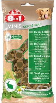 8в1 Minis 100г Лакомство для собак кролик и травы, с просом