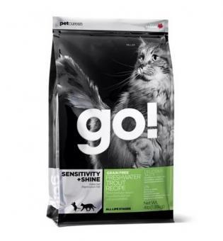 Go Natural 7,26 кг 48/18 Sensitivity Trout and salmon беззерновой корм для котят и кошек с чувствительным пищеварением