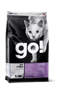 Go Natural 3,63кг 48/18 Fit free беззерновой корм для котят и кошек 4 вида мяса курица, индейка, утка, лосось