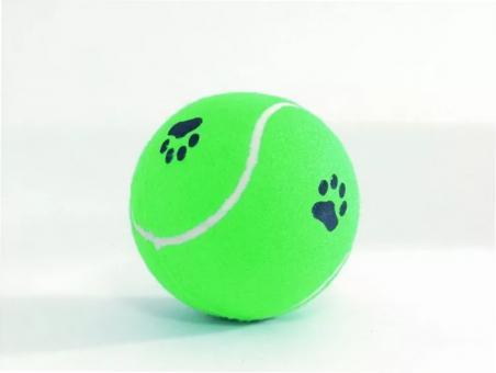 Beeztees 625597 Игрушка для собак Мячик теннисный с отпечатками лап, в ассортименте 12см