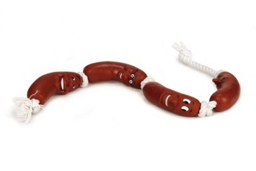 Beeztees 620332 Игрушка для собак 4 Сосиски на верёвке, винил