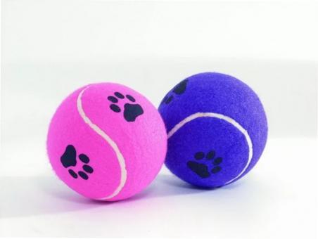 Beeztees 625596 Игрушка для собак Мячик теннисный с отпечатками лап, в ассортименте 10см