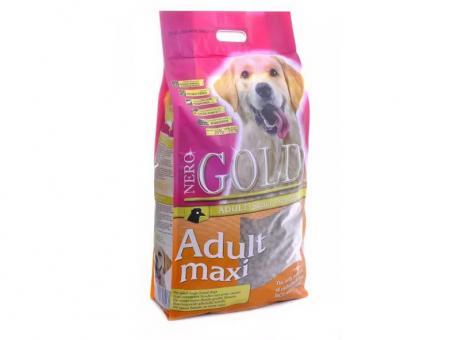 Nero Gold 18 кг. Adult maxi 26/16 Сухой корм для взрослых собак крупных пород, курица