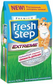 Fresh Step 18 литров (9,52кг) Впитывающий Фреш Степ тройная защита запаха