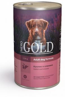 Nero Gold 1,25кгRabbit and Venison консервы для собак, Кролик и оленина