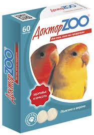 Доктор ZOO витамины для птиц 60шт