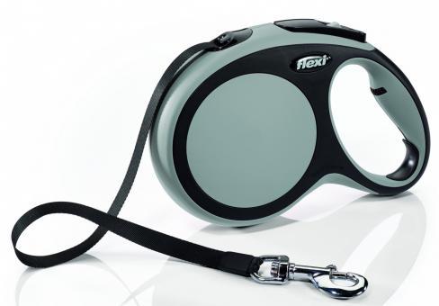 Flexi New Comfort L Рулетка-ремень для собак до 60кг, 5м серый