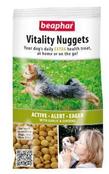 Beaphar Vitality Nuggets 300г Лакомство для собак с чесноком и женьшенем