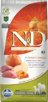 Farmina 2,5кг N&D Dog Pumpkin Boar & Apple Adult Mini Беззерновой корм для взрослых собак мелких пород кабан с яблоком и тыква