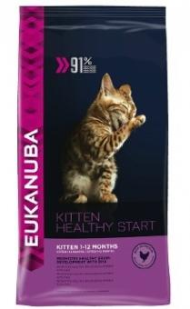 Eukanuba 5кг Kitten Healthy Start для котят, беременных и кормящих кошек