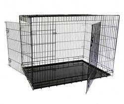 Papillon Wire cage black 2 doors 151218  Клетка металлическая с 2 дверками 118*78*85 см, черная