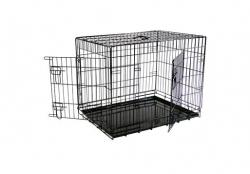Papillon Wire cage black 2 151276  Клетка металлическая с 2 дверками, 76*54*61 см, черная